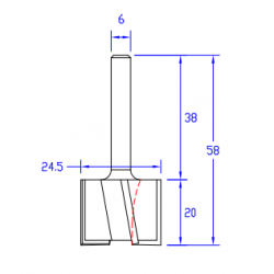 HM прав фрезер за вкопаване Z-4