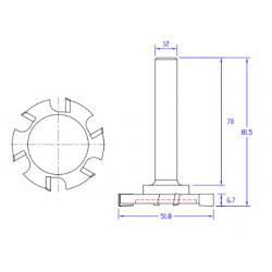 HM фрезер за подравняване Z-6