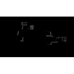 Регулируема фрезова глава за канали с нониус