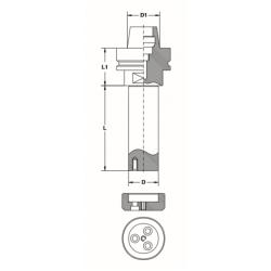 Държач за инструменти HSK-F63 с ос