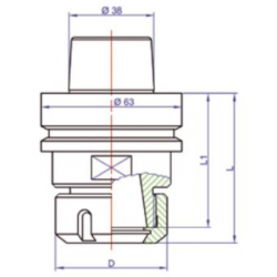 Държач за инструменти HSK-F63