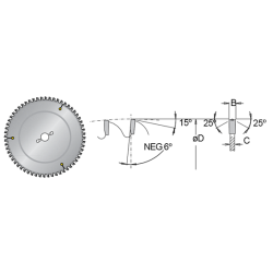 Циркулярен диск за PVC&PLEXIGLASS DIMAR