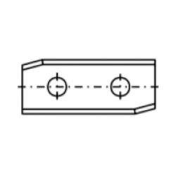 Сменяеми пластини с два отвора скосени