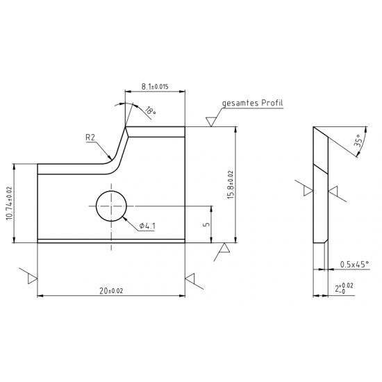 Пластини за кантираща машина CEHISA-Rapid