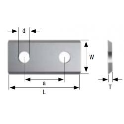 Стандартни сменяеми пластини с два отвора