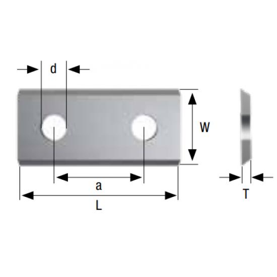 Стандартни сменяеми пластини с един отвор