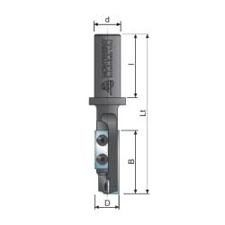 CNC прав фрезер сменаема пластина Z-2 с централна пластина