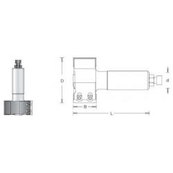 CNC фрезер за вкопаване см.пластини с подрезвачи