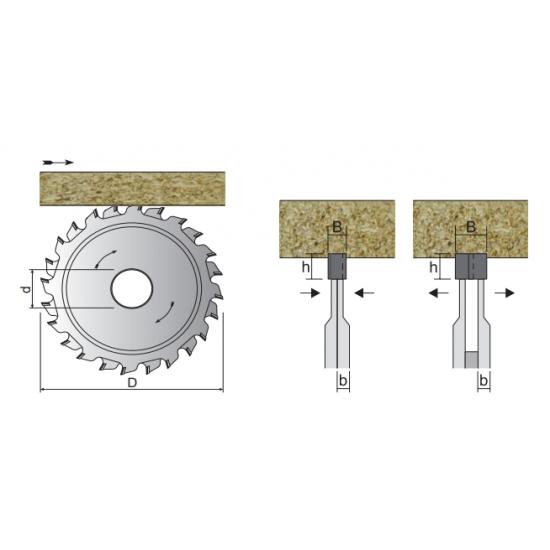 PCD подрезвач съставен
